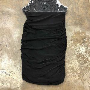 Alice + Olivia Dresses - Alice Olivia Sequin Silk Dress Bodycon Ruched 8